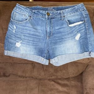 Woman's size 16 time and tru denim shorts
